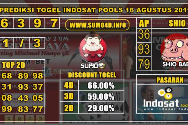 PREDIKSI TOGEL INDOSAT POOLS 16 AGUSTUS 2019