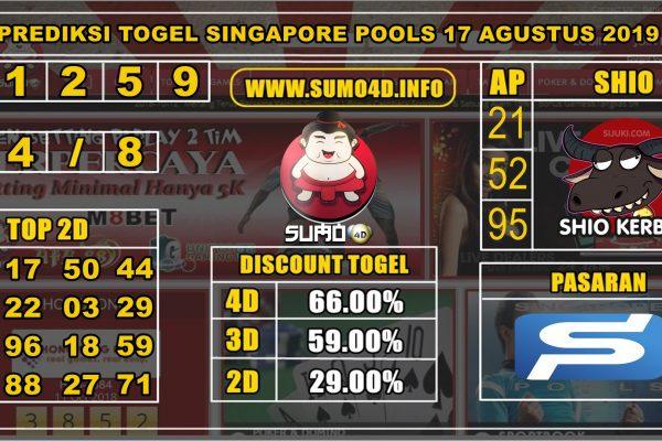 PREDIKSI TOGEL SINGAPORE POOLS 17 AGUSTUS 2019