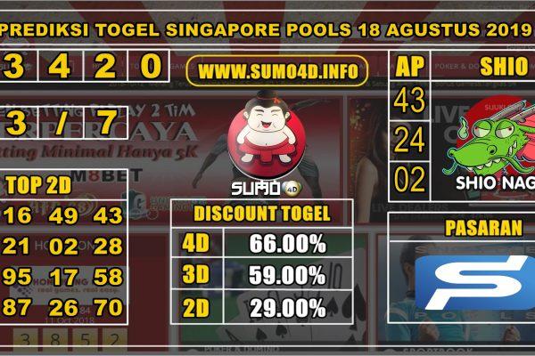 PREDIKSI TOGEL SINGAPORE POOLS 18 AGUSTUS 2019