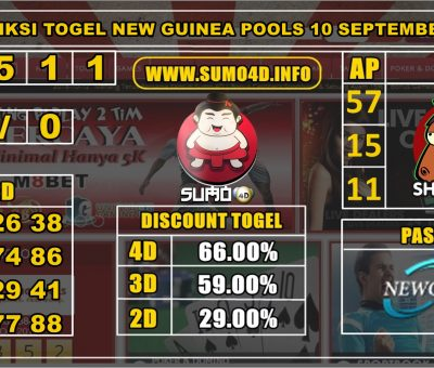 PREDIKSI TOGEL NEW GUINEA POOLS 10 SEPTEMBER