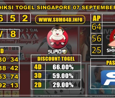 PREDIKSI TOGEL SINGAPORE POOLS 07 SEPTEMBER 2019