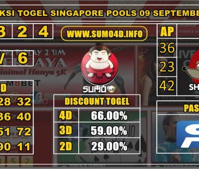 PREDIKSI TOGEL SINGAPORE POOLS 09 SEPTEMBER 2019