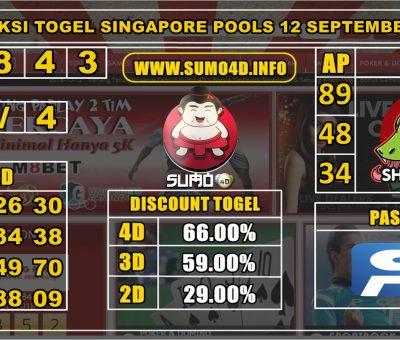 PREDIKSI TOGEL SINGAPORE POOLS 12 SEPTEMBER 2019