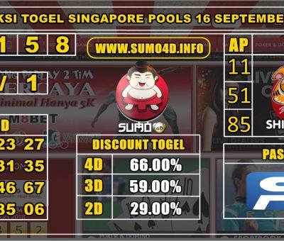 PREDIKSI TOGEL SINGAPORE POOLS 16 SEPTEMBER 2019