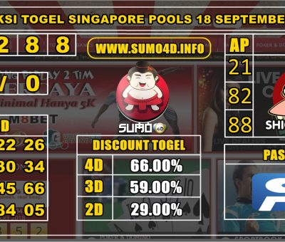 PREDIKSI TOGEL SINGAPORE POOLS 18 SEPTEMBER 2019