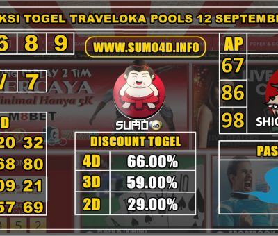 PREDIKSI TOGEL TRAVELOKA POOLS 12 SEPTEMBER 2019