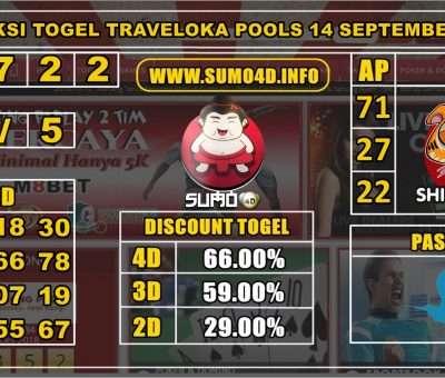 PREDIKSI TOGEL TRAVELOKA POOLS 14 SEPTEMBER 2019