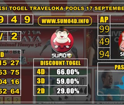 PREDIKSI TOGEL TRAVELOKA POOLS 17 SEPTEMBER 2019