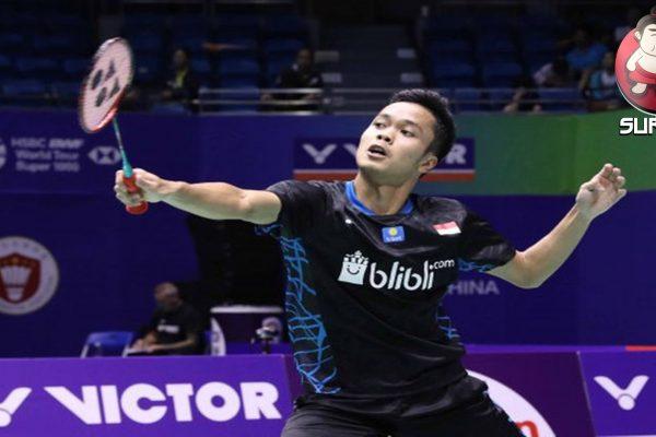 Anthony Ginting Langsung Tersingkir dari Denmark Open 2019