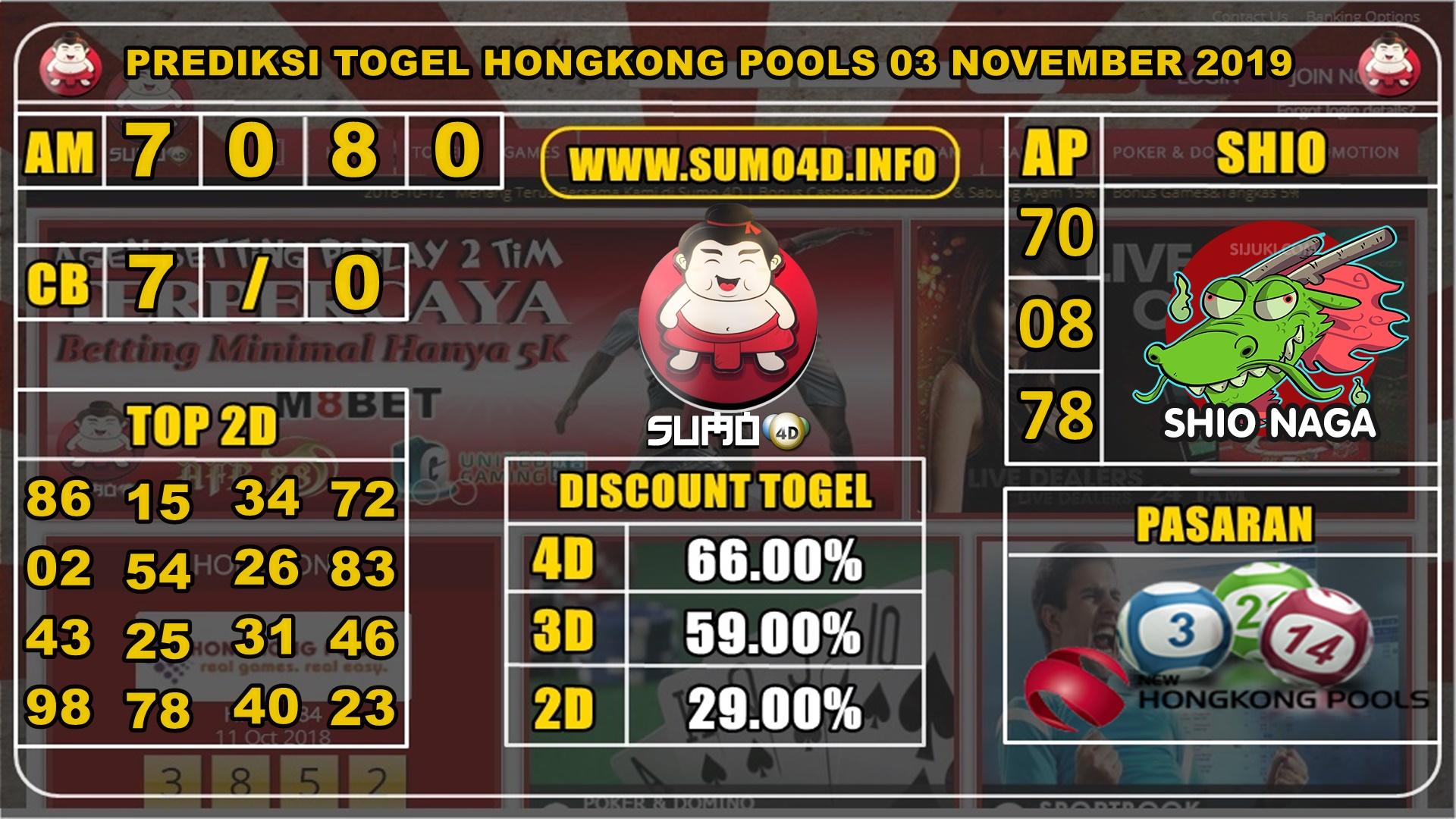 PREDIKSI TOGEL HONGKONG POOLS 03 NOVEMBER 2019