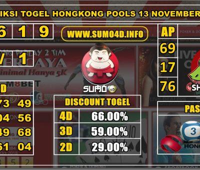 PREDIKSI TOGEL HONGKONG POOLS 13 NOVEMBER 2019