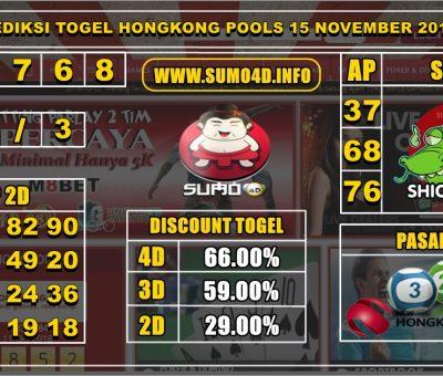 PREDIKSI TOGEL HONGKONG POOLS 15 NOVEMBER 2019
