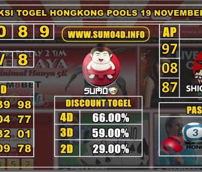PREDIKSI TOGEL HONGKONG POOLS 19 NOVEMBER 2019