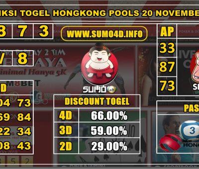 PREDIKSI TOGEL HONGKONG POOLS 20 NOVEMBER 2019