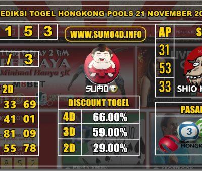 PREDIKSI TOGEL HONGKONG POOLS 21 NOVEMBER 2019