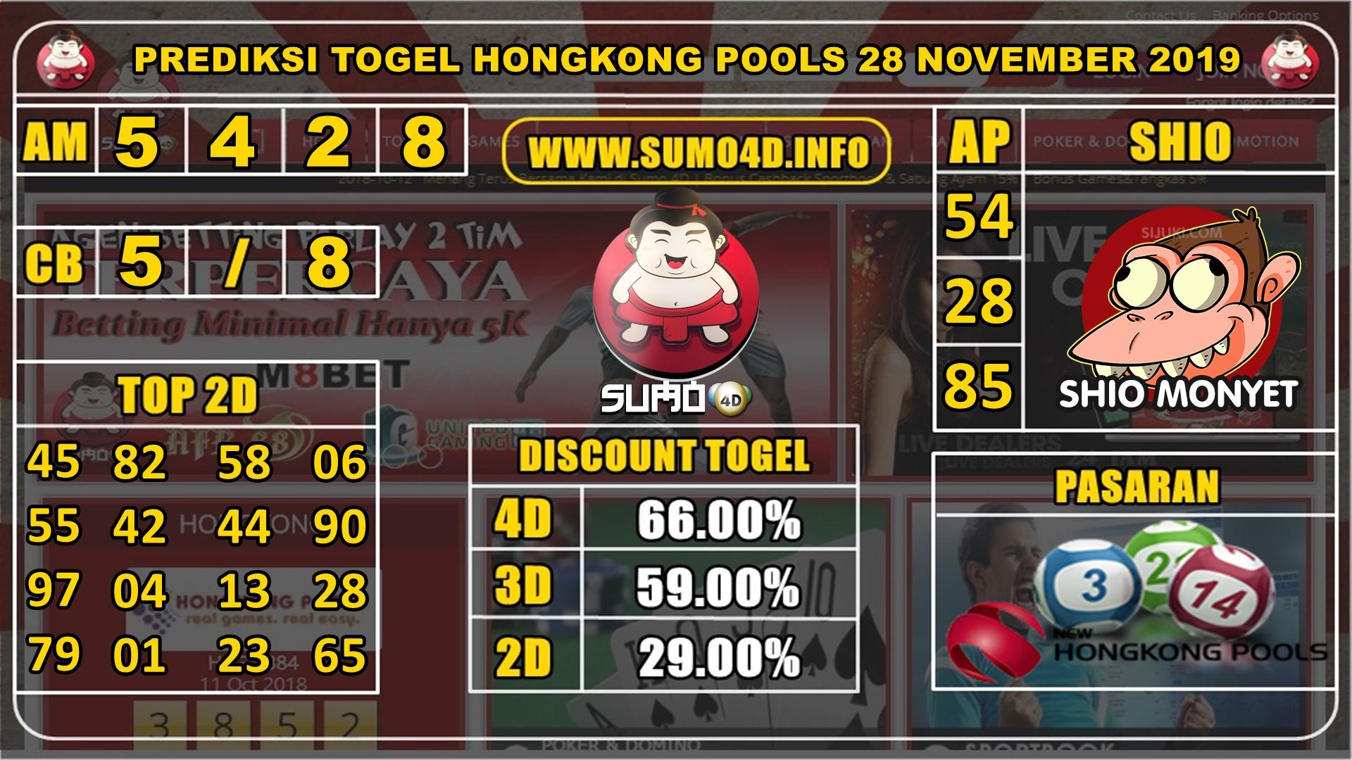 PREDIKSI TOGEL HONGKONG POOLS 28 NOVEMBER 2019