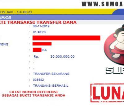 BUKTI PEMBAYARAN JACKPOT Rp30.000.000 MEMBER SUMO4D