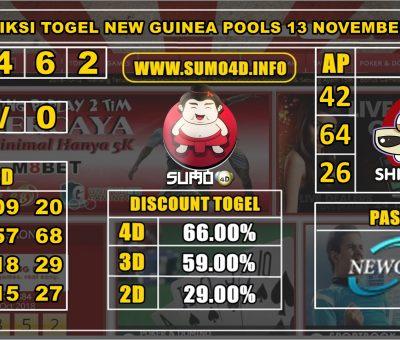 PREDIKSI TOGEL NEW GUINEA POOLS 13 NOVEMBER 2019