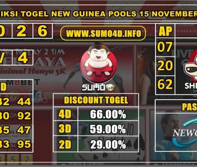 PREDIKSI TOGEL NEW GUINEA POOLS 15 NOVEMBER 2019
