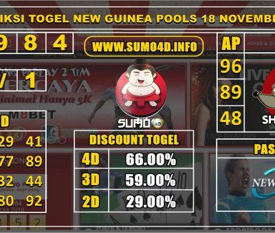 PREDIKSI TOGEL NEW GUINEA POOLS 18 NOVEMBER 2019