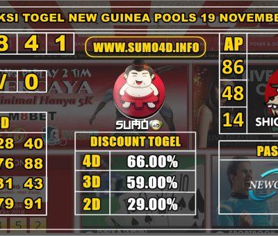 PREDIKSI TOGEL NEW GUINEA POOLS 19 NOVEMBER 2019