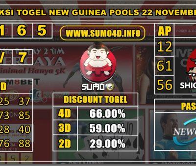 PREDIKSI TOGEL NEW GUINEA POOLS 22 NOVEMBER 2019