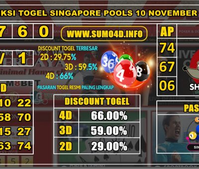 PREDIKSI TOGEL SINGAPORE POOLS 10 NOVEMBER 2019