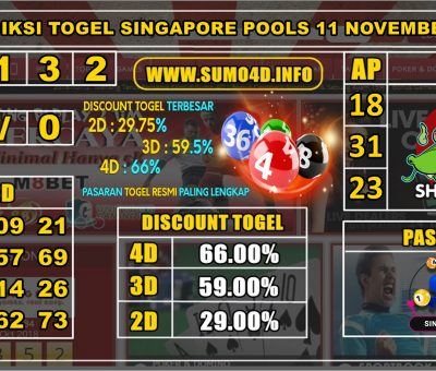 PREDIKSI TOGEL SINGAPORE POOLS 11 NOVEMBER 2019