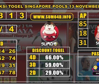 PREDIKSI TOGEL SINGAPORE POOLS 13 NOVEMBER 2019