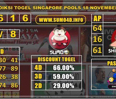 PREDIKSI TOGEL SINGAPORE POOLS 18 NOVEMBER 2019