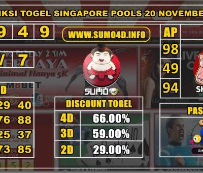 PREDIKSI TOGEL SINGAPORE POOLS 20 NOVEMBER 2019