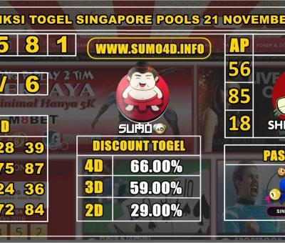 PREDIKSI TOGEL SINGAPORE POOLS 21 NOVEMBER 2019