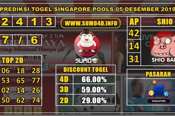 PREDIKSI TOGEL SINGAPORE POOLS 05 DESEMBER 2019