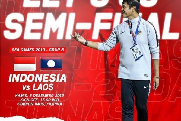 Rekor Pertemuan Timnas Indonesia U-22 vs Laos di SEA Games