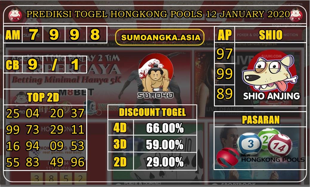PREDIKSI TOGEL HONGKONG POOLS 12 JANUARY 2020