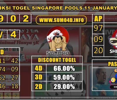 PREDIKSI TOGEL SINGAPORE POOLS 11 JANUARY 2020