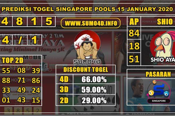 PREDIKSI TOGEL SINGAPORE POOLS 15 JANUARY 2020