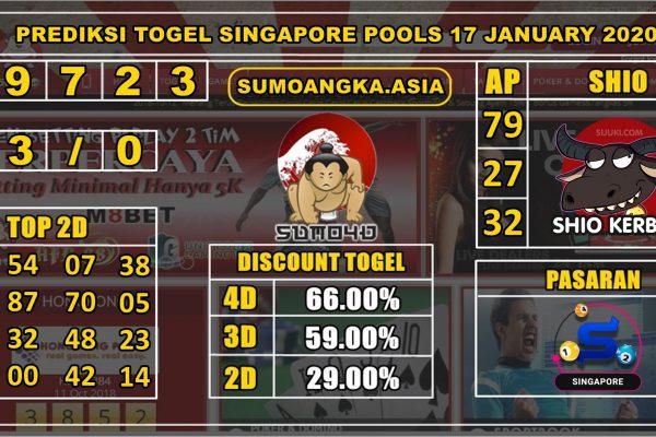 PREDIKSI TOGEL SINGAPORE POOLS 17 JANUARY 2020