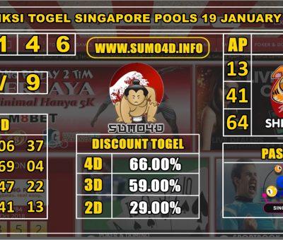 PREDIKSI TOGEL SINGAPORE POOLS 19 JANUARY 2020