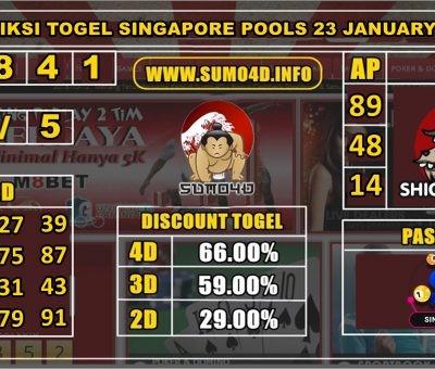 PREDIKSI TOGEL SINGAPORE POOLS 23 JANUARY 2020
