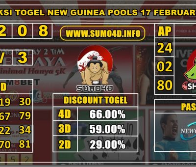 PREDIKSI TOGEL NEW GUINEA POOLS 17 FEBRUARY 2020