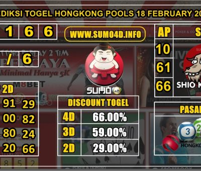 PREDIKSI TOGEL HONGKONG POOLS 18 FEBRUARY 2020