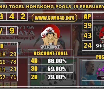 PREDIKSI TOGEL HONGKONG POOLS 15 FEBRUARY 2020