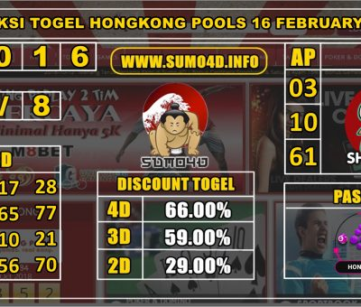 PREDIKSI TOGEL HONGKONG POOLS 16 FEBRUARY 2020