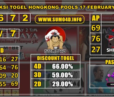 PREDIKSI TOGEL HONGKONG POOLS 17 FEBRUARY 2020