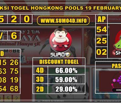 PREDIKSI TOGEL HONGKONG POOLS 19 FEBRUARY 2020