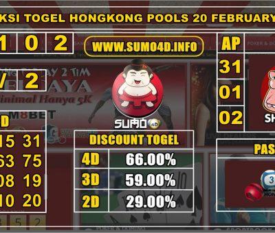 PREDIKSI TOGEL HONGKONG POOLS 20 FEBRUARY 2020