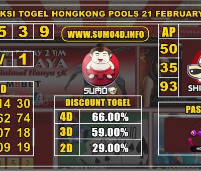 PREDIKSI TOGEL HONGKONG POOLS 21 FEBRUARY 2020