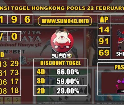 PREDIKSI TOGEL HONGKONG POOLS 22 FEBRUARY 2020
