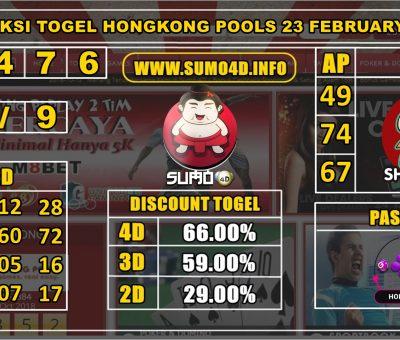 PREDIKSI TOGEL HONGKONG POOLS 23 FEBRUARY 2020